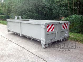 Container 5000 x 2300 x 1000 - voorzien van rood-wit arcering