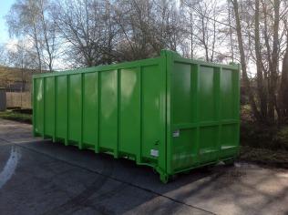 Container 6000 x 2300 x 2300 voorzien van verzwaarde valdeur
