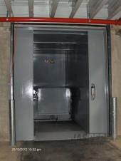 Kipsysteem op stationaire persinstallatie - binnen gemonteerd