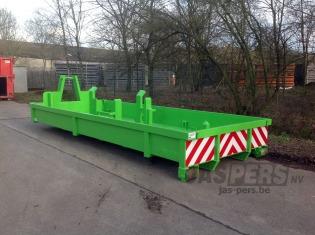 Container aangepast voor vervoer van ballast-blokken